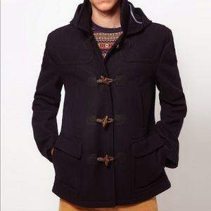Ted Baker navy blue wool duffle coat